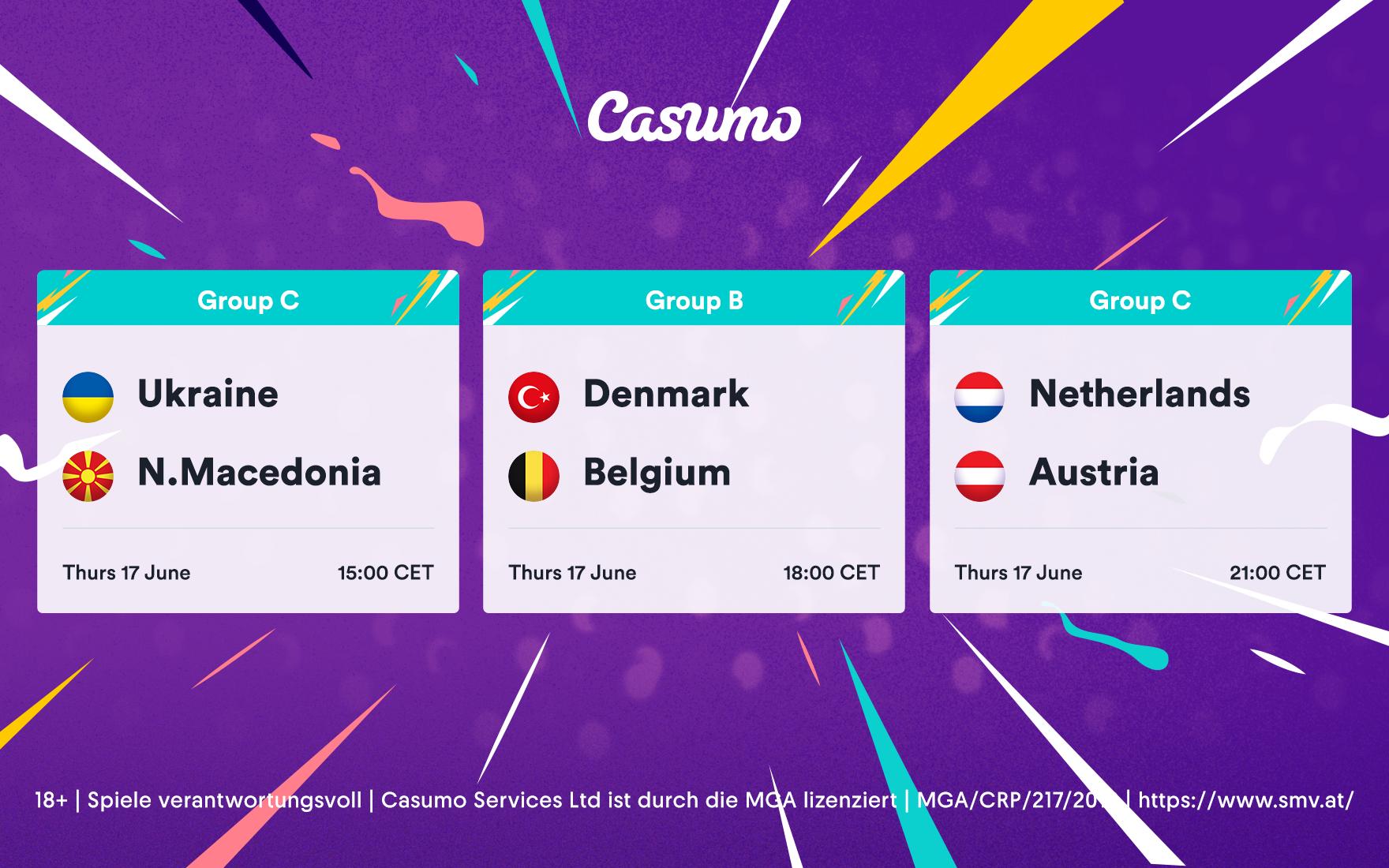Wetttipps für EM 2020: Donnerstag 17. Juni – Dänemark-Belgien & mehr!