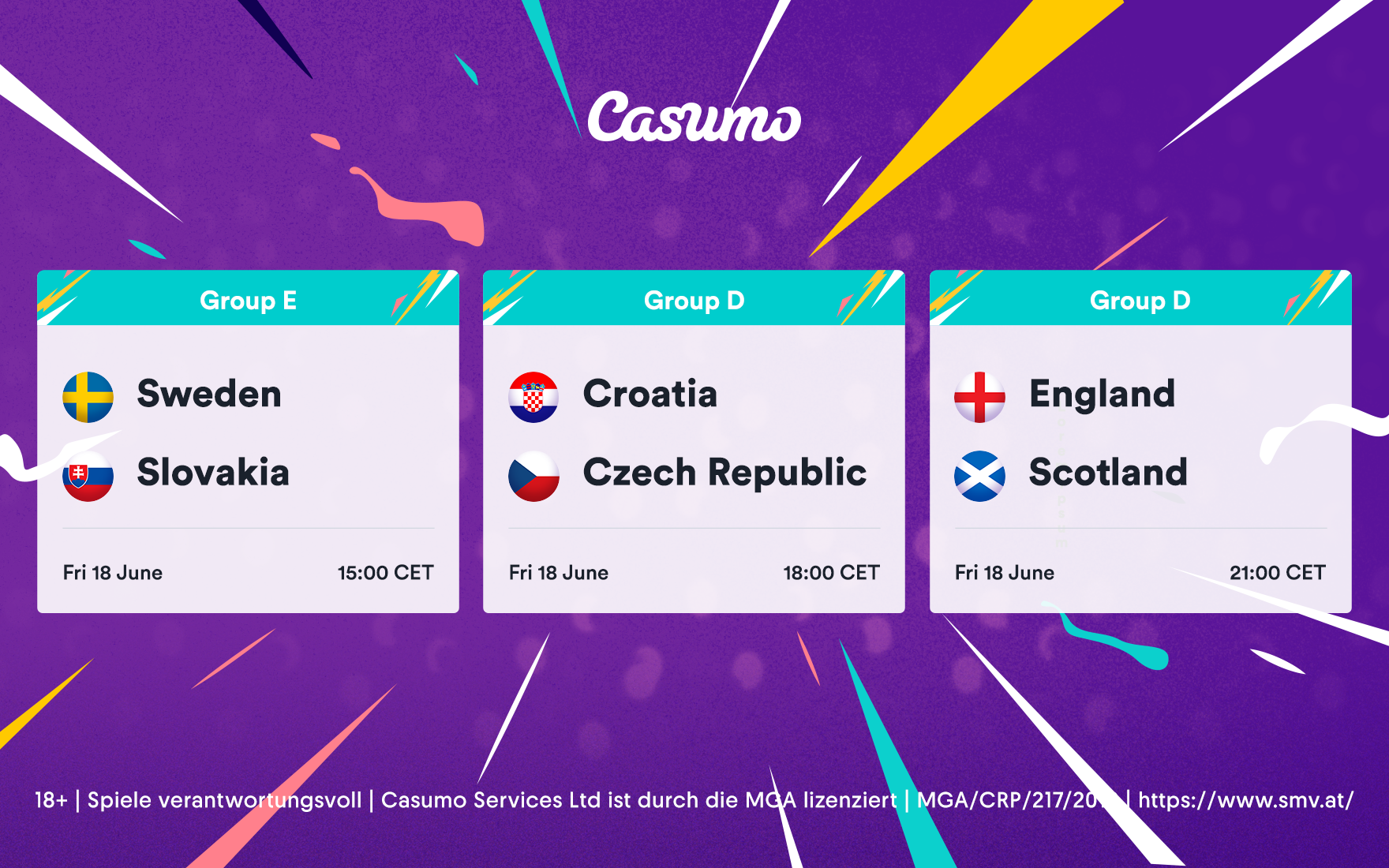 Friday 18th June Euro 2020 preview