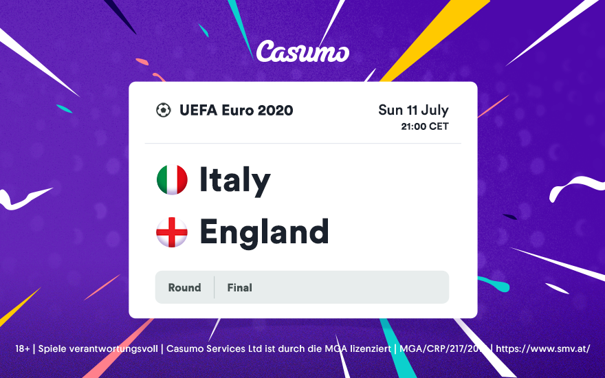 Wetttipps für EM 2020: Sonntag, 11. Juli – Italien-England